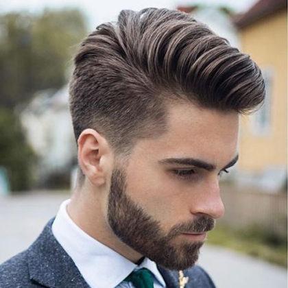 コームオーバー 髪型