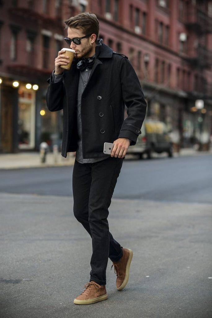 Pコート ファッション