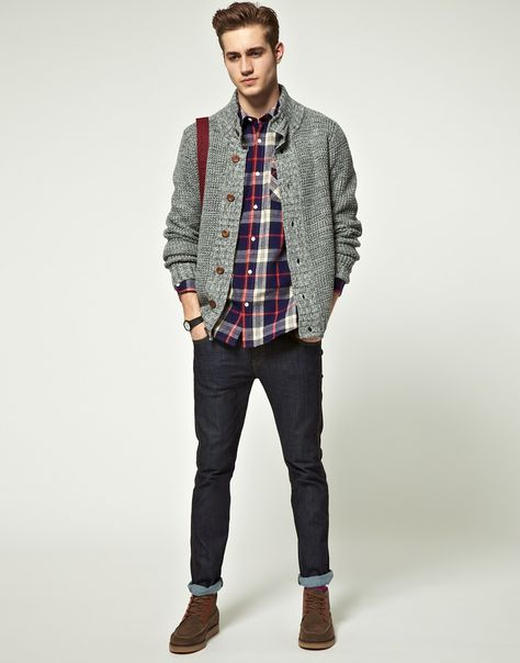 チェックシャツ ファッション