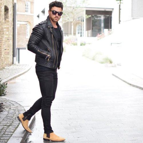 黒ライダース ファッション