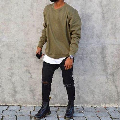 黒スキニー ファッション