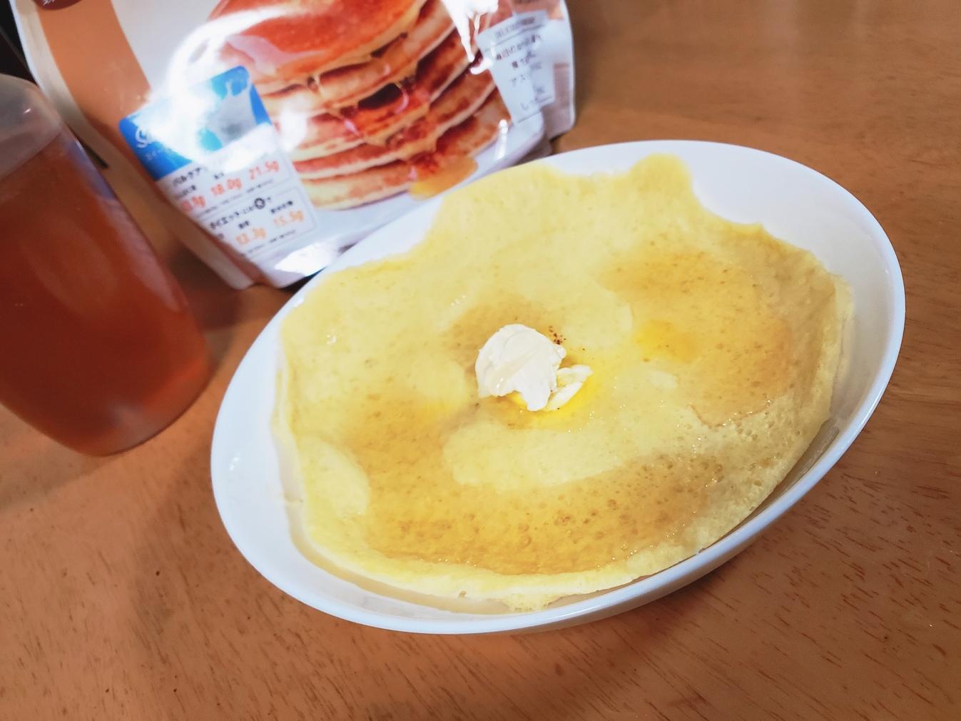 レンジでプロテインパンケーキ 完成!